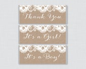 Burlap and Lace Printable...