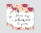 Printable Pink Floral Bab...