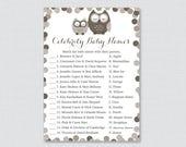 Brown Owl Baby Shower Cel...