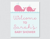 Whale Baby Shower Welcome...