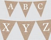 Burlap Alphabet Banner wi...