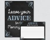 Blue Chalkboard Advice fo...