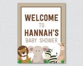 Safari Baby Shower Welcom...
