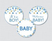 Blue and Gold Baby Shower...