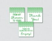 Green Chevron Printable F...