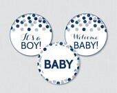 Navy and Gray Baby Shower...