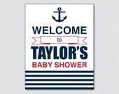 Nautical Baby Shower Welc...
