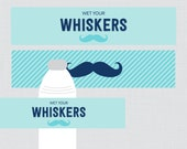 Mustache Baby Shower Wate...