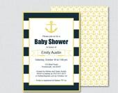 Nautical Baby Shower Invi...