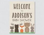 Woodland Baby Shower Welc...
