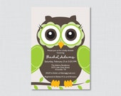 Owl Baby Shower Invitatio...