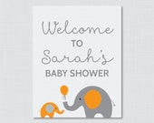 Elephant Baby Shower Welc...