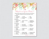 Floral Baby Shower What&#...