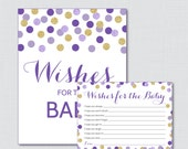 Purple and Gold Wishes fo...