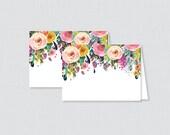 Printable Floral Food Ten...