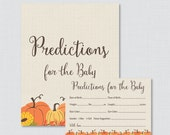 Pumpkin Baby Shower Predi...
