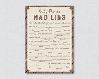 photograph relating to Camping Mad Libs Printable referred to as Youngster shower insane libs Etsy