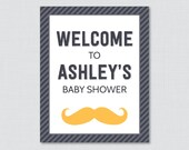 Mustache Baby Shower Welc...