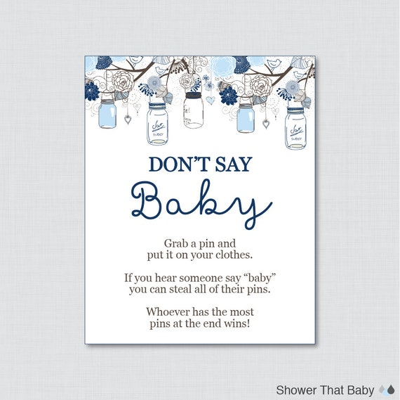 It is a picture of Don T Say Baby Free Printable regarding game