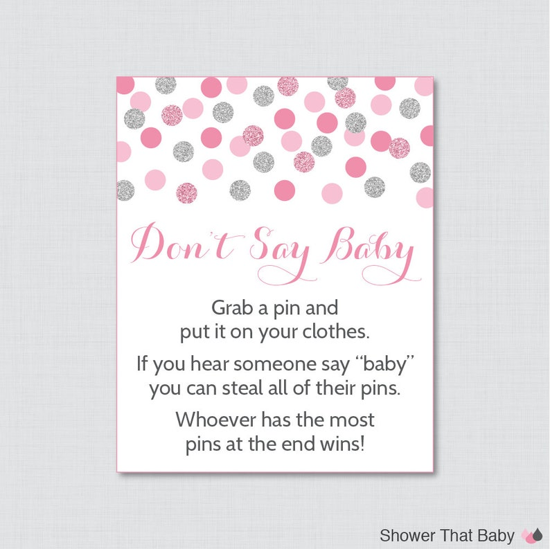 picture relating to Don T Say Baby Game Printable titled Red and Grey Dont Say Child Little one Shower Match- Printable Diaper Pin Clothing Pin Recreation, Purple and Silver Boy or girl Shower Recreation Glitter - 0023-P