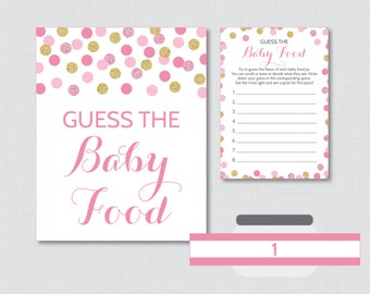 Star Baby Shower Game Guess The Baby Food Activity Printable Baby