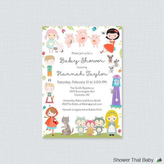 Nursery Rhyme Themed Baby Shower Printable Or Printed Etsy