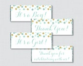 Mint and Gold Printable C...