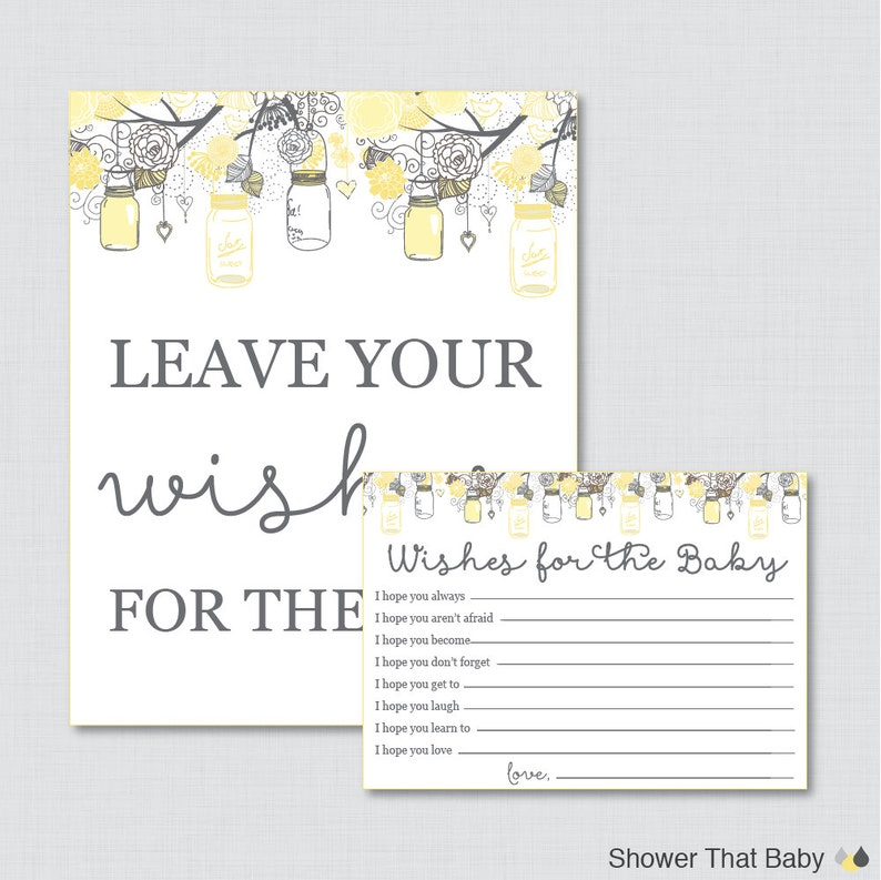 Wishes for Baby Baby Shower Activity Printable Well Wishes for image 0