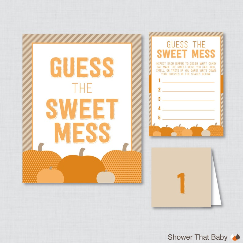 picture regarding Candy Bar Game Printable identified as Pumpkin Kid Shower Diaper Sweet Bar Video game - Printable Bet The Adorable Mess - Sport Playing cards, Indication Labels Sweet Bar Diaper Sport - 0035-O