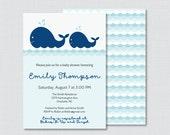 Whale Baby Shower Invitat...