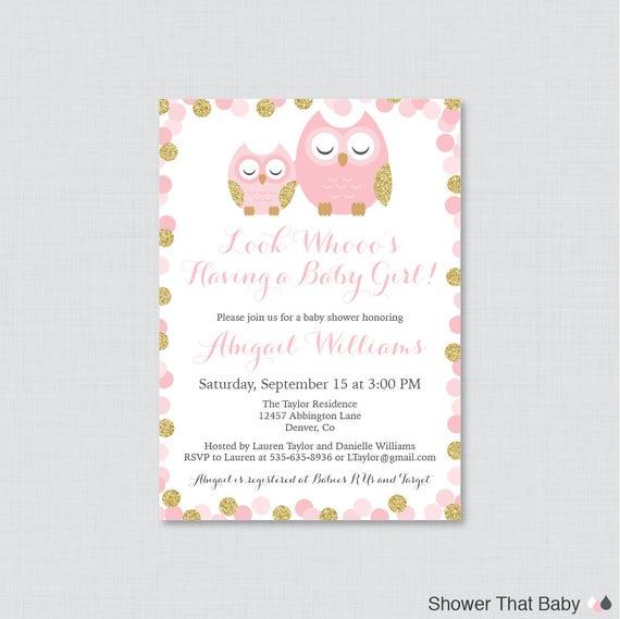 owl baby shower invites