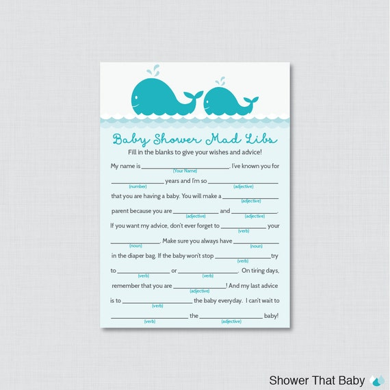 photo relating to Baby Shower Mad Libs Printable Free named Youngster Shower Outrageous Libs Guidance - Kid Shower Invites