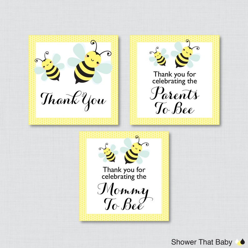graphic about Bee Printable named Bumble Bee Printable Want Tag - Bumble Bee Youngster Shower Prefer Tags within just Yellow - Thank Oneself Tag, Mommy in direction of Bee Like Tags, Mom and dad toward Bee - 0021