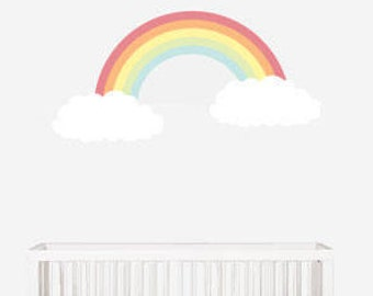 Rainbow Wall Decal, Wall Decals Nursery, Baby Wall Decal, Kids Wall Decals, Nursery Wall Decal, Wall Decal Kids, REMOVABLE and REUSABLE