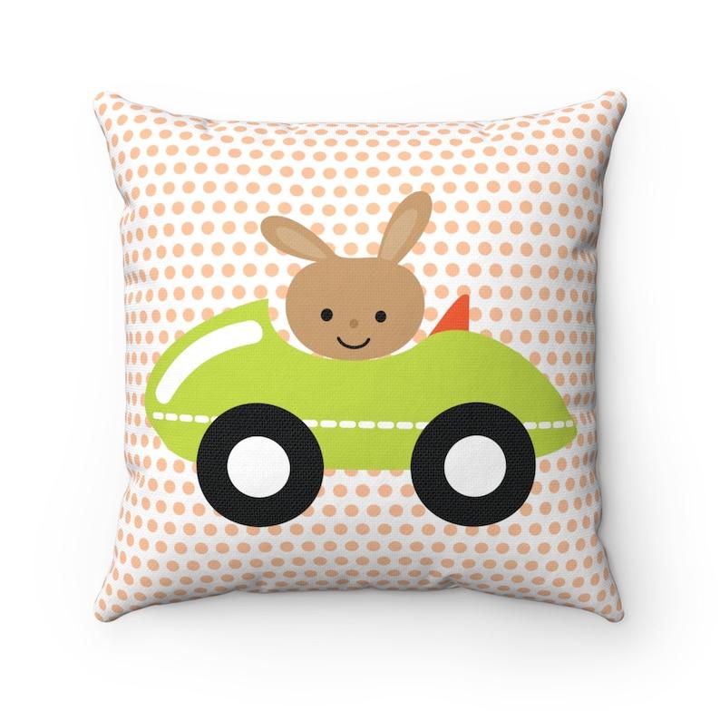 Kids Bedroom Throw Pillows Pillow and Insert Bunny Throw Pillow Throw Pillows Nursery Decor Boys Bedroom Decor Kids Pillows