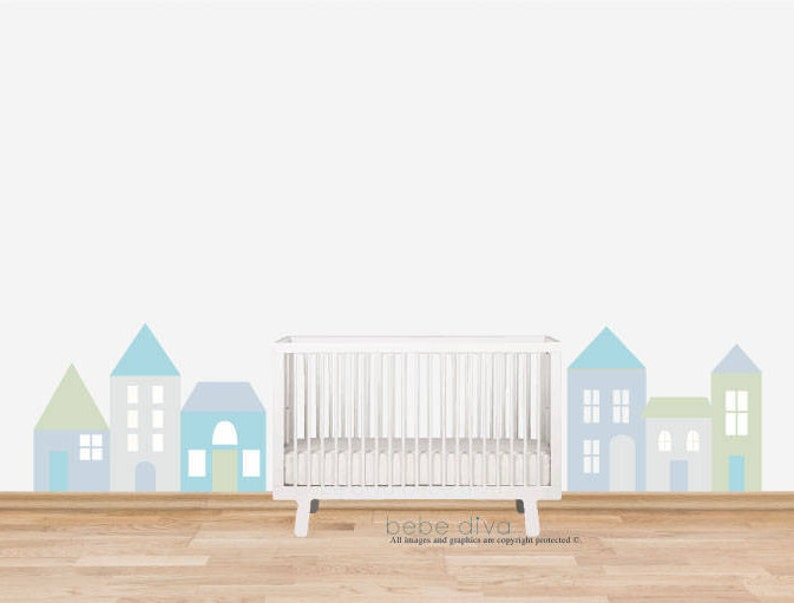 City Wall Decals REMOVABLE REUSABLE Wall Decals Nursery Nursery Wall Decal Kids Wall Decals Wall Decal Nursery Baby Wall Decal