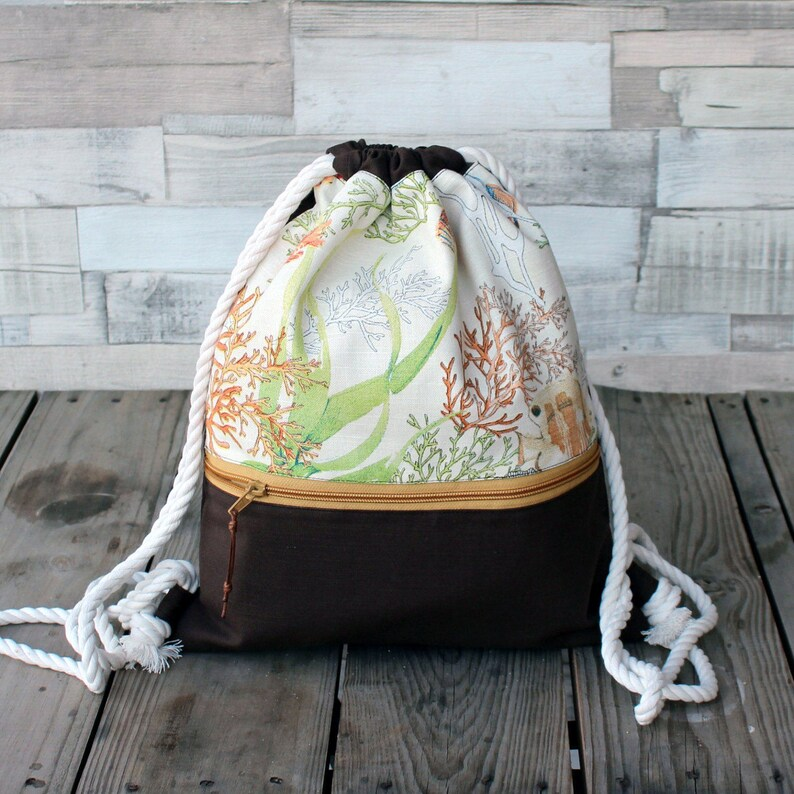 Sea Backpack Backpack handmade in canvas and cotton