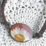 Real Pressed Flower Bracelet/ Real Daisy/ Real Wildflower/ Wildflower Bracelet/ Boho Bracelet/ Daisy Bracelet