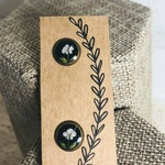 Pressed Flower Earrings/Queen Annes Lace
