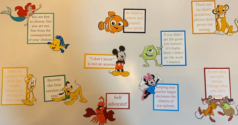 High School Rules and Advice for Disney Lovers Bulletin Board