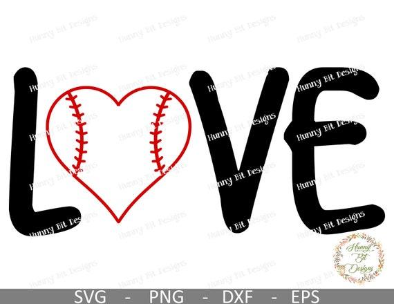 Baseball Love Svg Baseball Love Baseball Svg Mom Shirt Baseball File Cut File Vector File Cricut Design Space Silhouette Studio By Hunny Bit Designs Catch My Party
