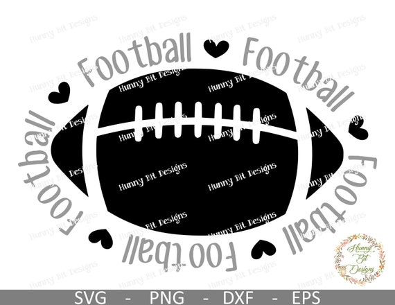 Football Mom Svg Football Svg Football Shirt Mom Shirt Football Hearts Football Cut File Vector File Cricut Ds Silhouette Studio By Hunny Bit Designs Catch My Party