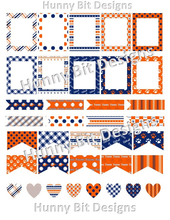 photograph regarding Printable Detroit Tigers Schedule identified as Erin Condren Planner Detroit Tigers Baseball Flags Stickers