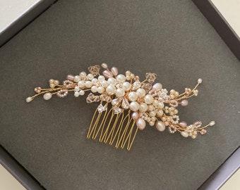 Abigail Comb, Wedding hair accessories, bridal hairpiece, tiara, Hairvine, Headpiece, Hair jewellery, Hair adornment, bridesmaid