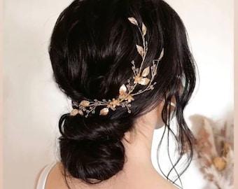 Branwen Hairvine, Wedding Hair Accessory, Bridal Accessories, Hairpiece, Headpiece, Tiara, Hair Adornment