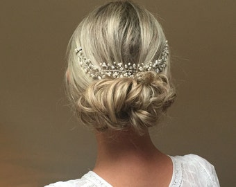 Wedding Hair Accessory, FREE SHIPPING!Bridal Hair Adornment, Pearl, Crystal, Hair Vine, Headdress, Hairpiece