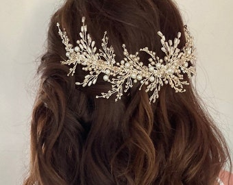 Camille Wedding hairpiece, Bridal hair accessory, Hair comb, Headpiece, tiara, Hairvine, vintage, bridesmaid, bride