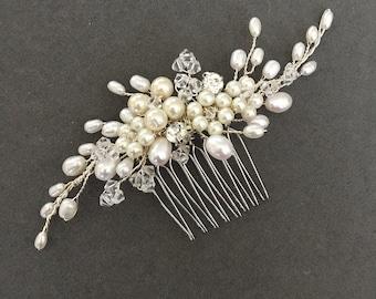 Abigail comb, Wedding hair comb, Bridal Hair Accessory, Hairvine, Hairpiece, Pearl, Bridal, Hair Jewellery