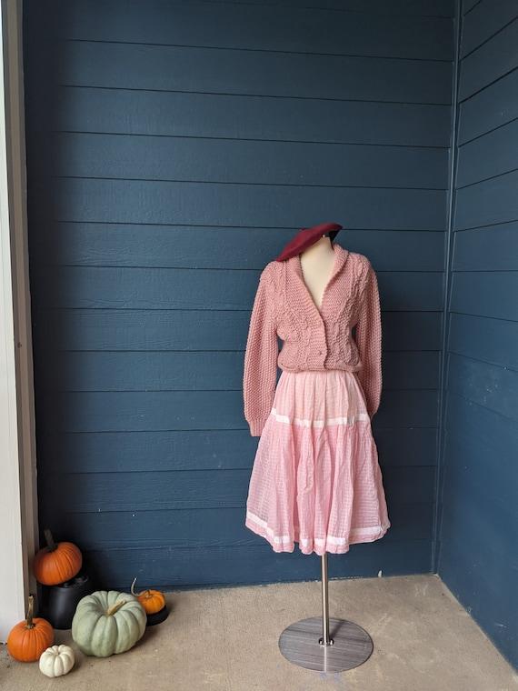 Vintage 1950s Tiered Skirt