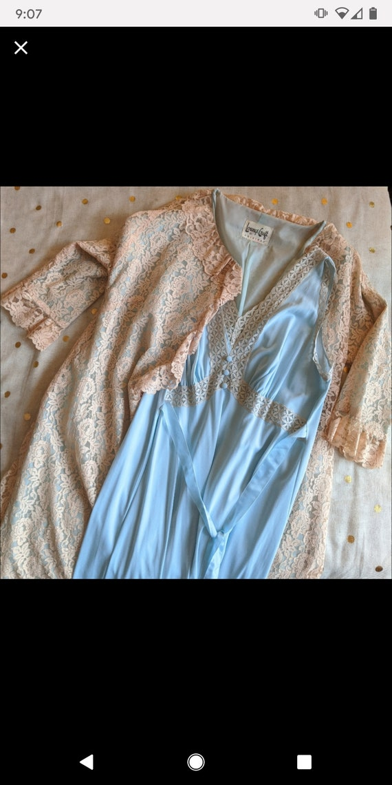 Vintage Loungecraft Lace Peignoir